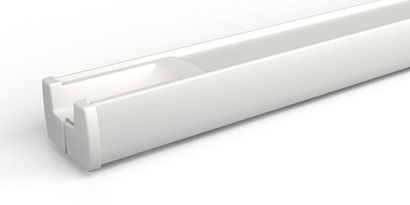 Plissee Schienenfarbe weiß matt
