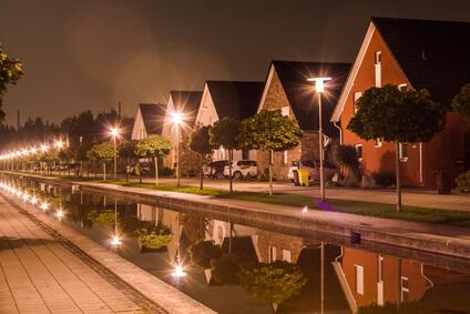 Außenbeleuchtung nachts