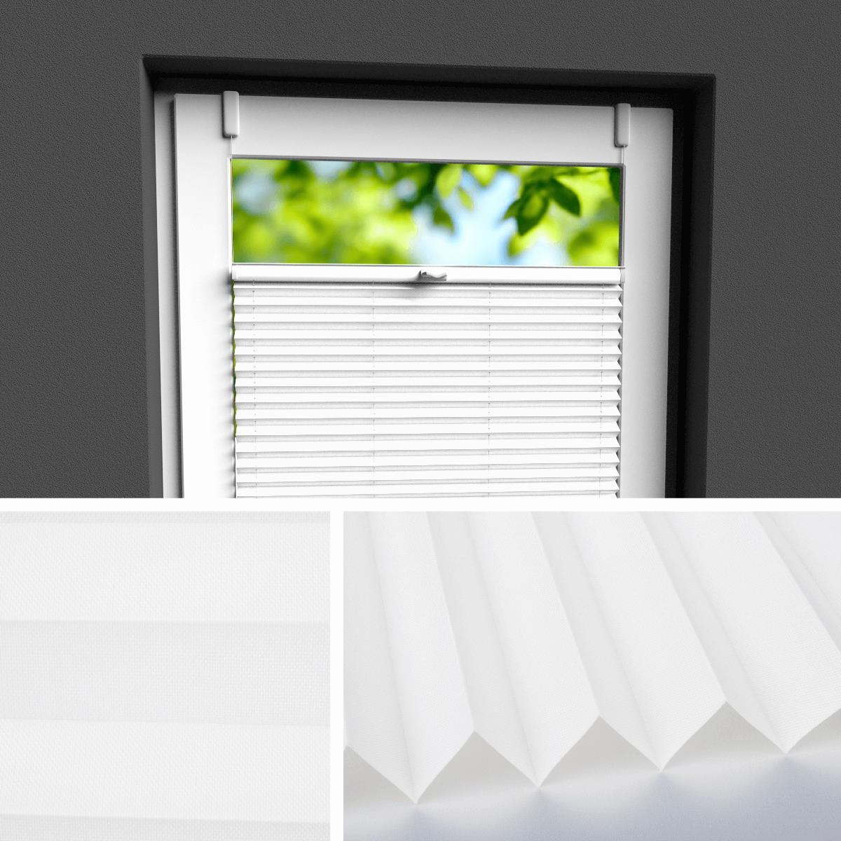 plissee mit schiene excellent fsp plisse mit fest montierter schrger oberschiene mit der frei. Black Bedroom Furniture Sets. Home Design Ideas