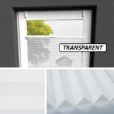 Plissee weiß transparent