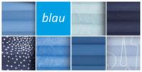 plissee blau