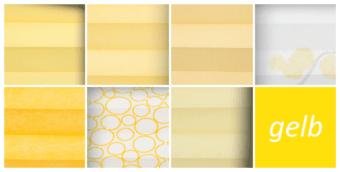 plissee gelb