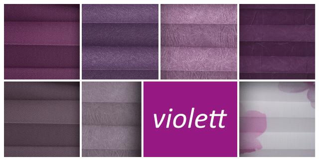 Plissee violett