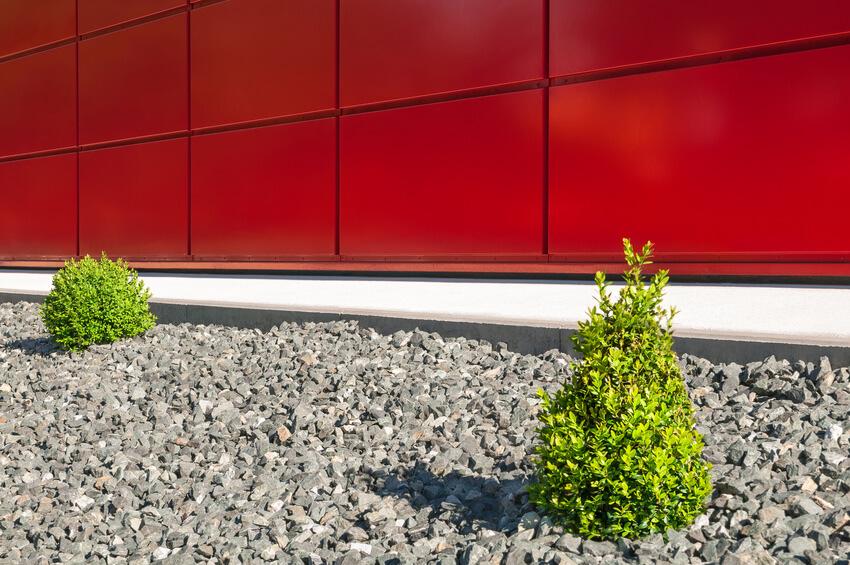 Minimalistischer Garten