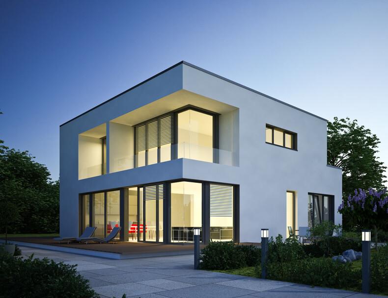 modernes haus - Geometrische Formen Farben Modernes Haus