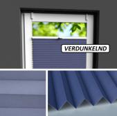Fensterrollo blau verdunkelnd